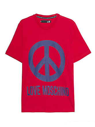 Peace Love Logo Logo Red Moschino Moschino Peace Love vn0m8wN