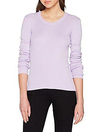 Benetton Femme Sweater L s Lilac pastel Pull Violet Medium 26g HdvqHxrw