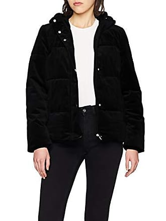 44 Moda Vero Short black Noir Femme Jacket Vmpaddy Velvet Manteau PgqFw