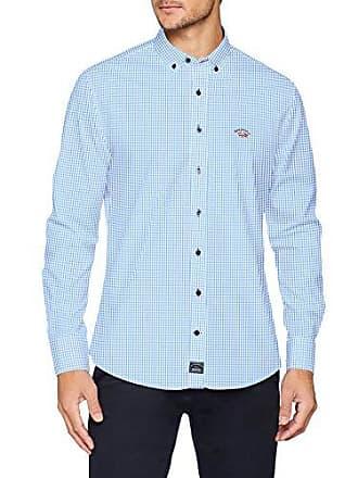 Del Basica Hombre cuadro Fabricante Para Boton Pop Celeste Cuello tamaño Casual Azul Large Blanco Y 000460 Camisa 0068 04 Spagnolo Cm zxUFtwqUB
