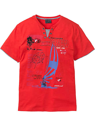 Von in Kurzer Bonprix Arm T Rot 2 shirt optik In 1 CxBOqxv