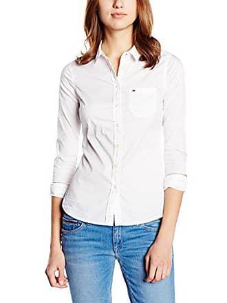 Blouse L Original Hilfiger Femme Lightweight s Xl Shirt Tommy Denim Blanc XUOqx0