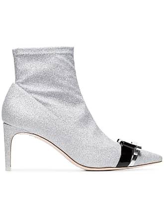 Webster Ankle Metallic Andie Bow Boots Métallisé 70 Sophia Glitter 6CnSUUT