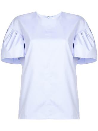 Victoria Beckham Sleeve Blouse Bleu Puff qZfrw8q