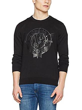 E899 Jeans Eb5gpa814 Couture Negro Para Sudadera Versace L Hombre nero w86xFwd