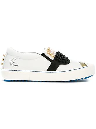 Blanc Karlito De Chaussures Fendi Skate q1n8PBxY