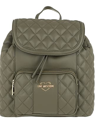 Moschino Love Verde Rucksack Backpack Grün Nappa Quilted Pw0qg6