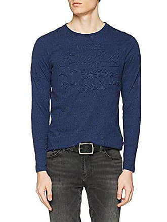 Navy Camiseta Para Blu Large M10003pp Grit Hombre bright Superdry qY5OvCC