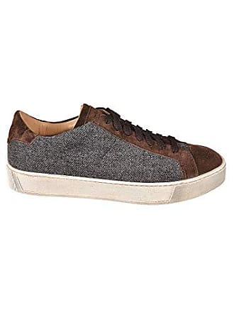 Santoni Braun Sneakers Mbgl20939spoewpag60 Leder Herren ggzrqPF