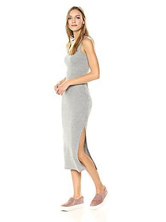 Vestido Rib Sidesplit Mujer Maxi Tommy Fabricante Small Connection Sless Mel 38 Grey tamaño Para French mid EIwqYCx