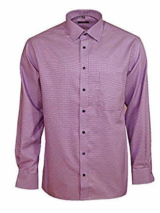 GrXl Herren Baumwolle Langarm Comfort Hemd Fit Businesshemd Freizeithemd Herrenhemd Violett Eterna Kariert 44 4Ljc35qSAR