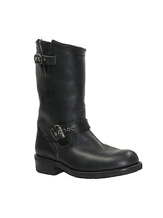 Boots En Ref noir san02780 Biker Vachette Bottes Sancho Cuir t7w1q41x
