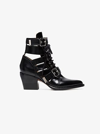 60 Leather Rylee Boots Chloé Black Buckle Ankle UE1ngwgq