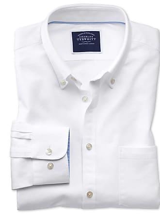 Schlicht Knopfmanschette Tyrwhitt Oxfordhemd weiß Charles In Classic Fit gyY7f6vb