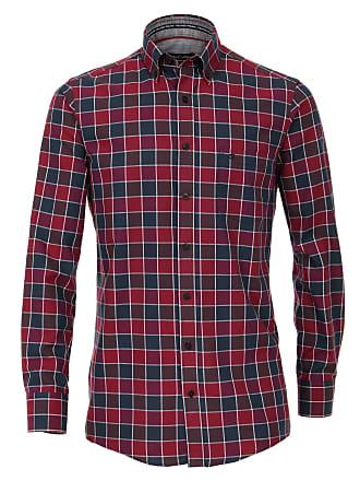 Casamoda Rot Dunkelrot Kariert« Twill »freizeithemd Hemd Langarmhemd Normalgrößen FwqF8r04