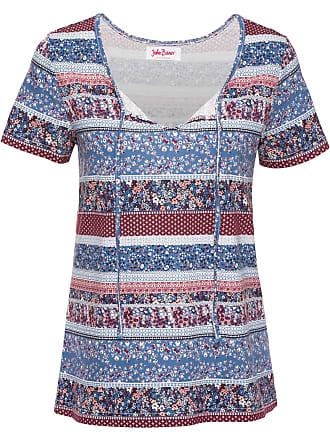 T Baner shirt John In Mouw Korte Blauw Jeanswear Dames tgTTwOq