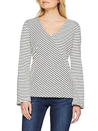 Esprit off Large White Longues T 110 098ee1k005 Multicolore Femme Manches shirt À rSxCrwq8P1