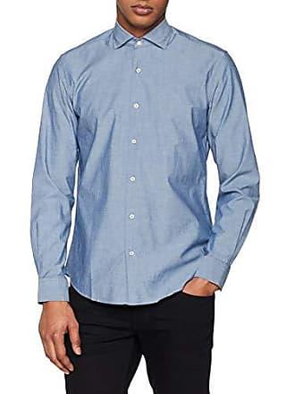 Casual C1bcs tamaño slo Del 10 Marino Camisa Hombre Fabricante Chambray m Para Cortefiel T azul Liso Medium 1dY1qw
