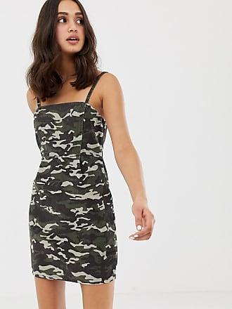 De Vestido Camuflaje Pana Con Asos Design Estampado d5wZdX