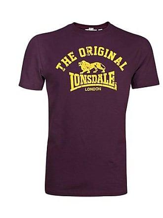 Regular altmodisches T Lonsdale Homme Weinrot Rouge shirt Medium Original 5zCw5qYxt