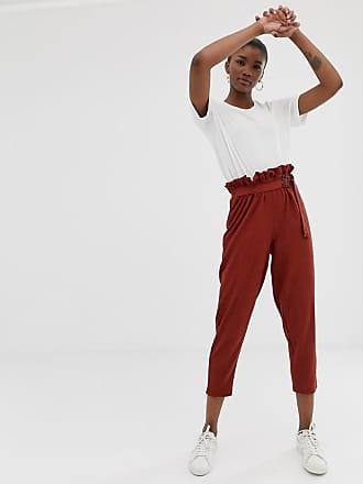 Anillas Arrugado D De Con Asos En Design Carey Pinzas Cintura Pantalones Punto Paperbag Y UzwzR4q