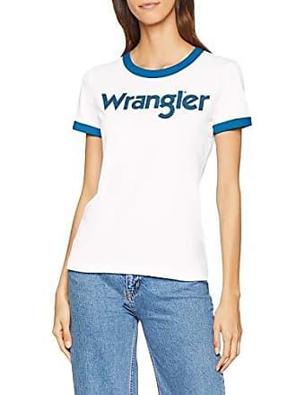 Camiseta Marfil V02 Para Ss small Tee Mujer Wrangler Logo X offwhite tafYqxt1w