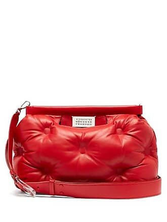 Margiela Quilted Glam Maison Leather Red BagWomens Medium Slam hxtdrQCs