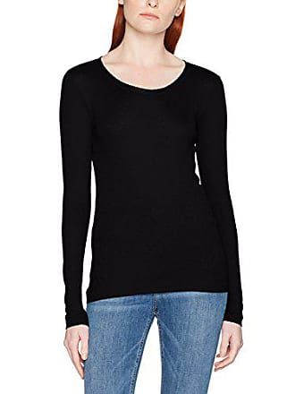 T New shirt 0 Fabricant Noa Manches M Longues Jersey taille Pointelle Femme Basic Noir 40 black SFq5I