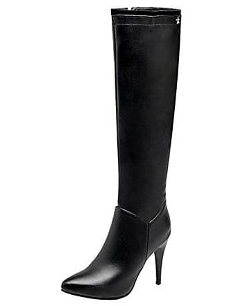 Mit Reißverschluss High Heels Spitz Aiyoumei Stiletto Elegant Damen Absatz Kniehohe 10cm Stiefel Langschaft Und q6IHBxw