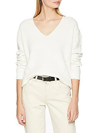 small White Manga Mujer Jeans 116 Easy Blanco Suéter Tommy Textured Larga snow X 7zw4Ofq