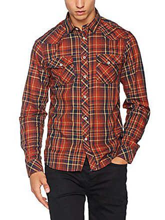 Solid Naranja tamaño xl Casual Fabricante Camisa Del Na picante Hombre Joushua IqwaI4