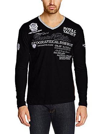 Norway Longues à Manches Large Hauts Chemise Classique Coupe Geographical Noir Droite Col Homme dwqISaEtnx