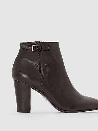 Cuir À Anne Zippées Weyburn Noir Boots Talon W4xwBzv1q