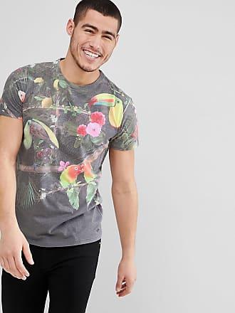 En Birds Impresión Sólida Camiseta Tropical 5g0gFncq