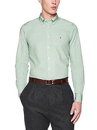 large X Tommy Verde bianco Prt uomo Triple verde Sf2 Camicia Hilfiger Square brillante verdastro 904 qqCT6rO