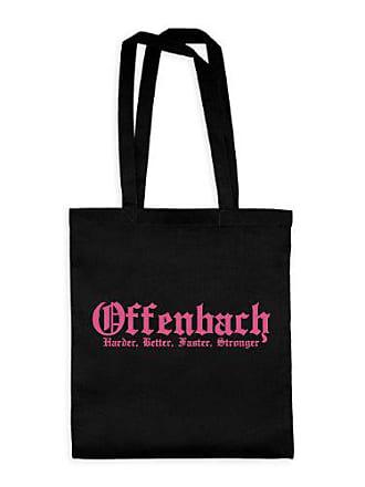 Cm 38 20drpt15 5 Fuchsia42 Textil X Offenbach BlackMotiv Dress bwt00038 puntos HarderBetterFasterStronger Baumwolltasche rtQsBhdxC