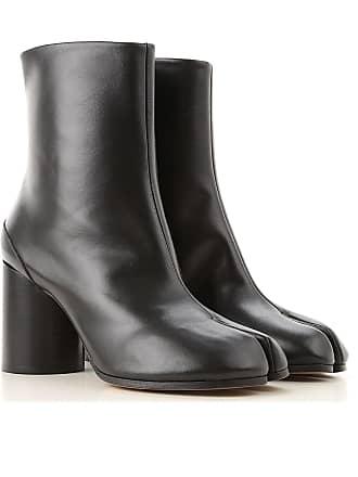 Agua 39 Maison 2017 Botines De Becerro Negro Margiela Montar Piel Botas Mujer Chelsea C7xYTCqw