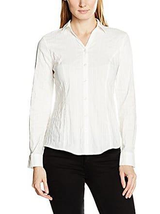 Bonita Langarm Femme Uni Blanc white Blouse 42 rrqa6wU5