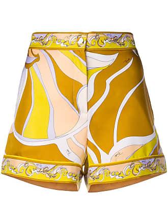Pucci Shorts PrintGelb Mit Shorts Pucci Emilio Emilio fb6y7g