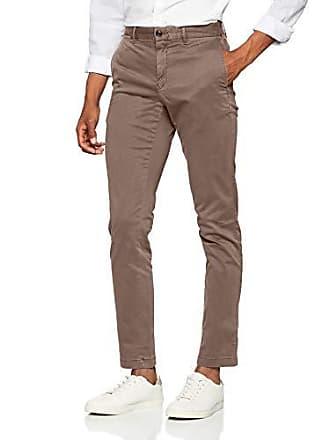 Tommy Hilfiger Straight Denton Flex Chino Gris walnut Pantalones Gmd W32 l32 Hombre 246 Para ddrHRq