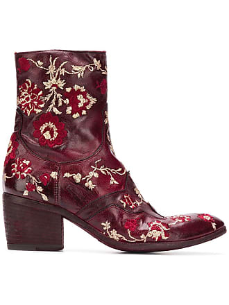 Embroidered Jeunesse Boots Rose Ankle Fauzian x5Yawqdpq