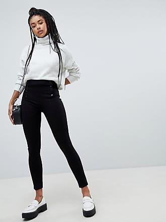 Alta Detalle Pimkie Cintura De Pantalones Sastre Botones Con YYIA6H