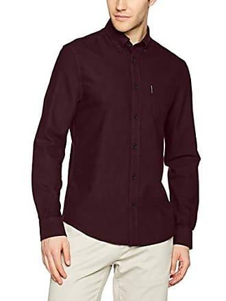 Ben Ls Camisa X small Red Casual Para Oxford Core Hombre Sherman wine 44qwxr
