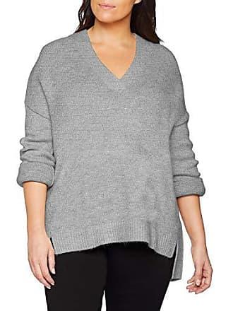 Maglia V Slouchy a chiaro 46 001 Jersey Mujer Be Marl grigio Para con Simply scollo YUAnU
