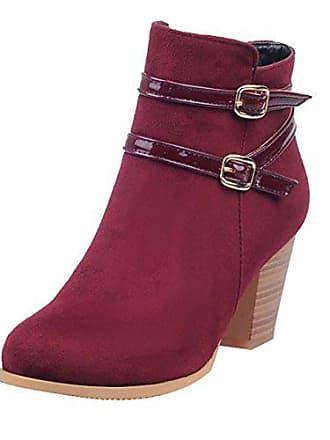 Chunky Schuhe Schnalle Damen Reißverschluss Bequeme Highheel Und Blockabsatz Mit Stiefeletten Uh Boots gUZqS5w