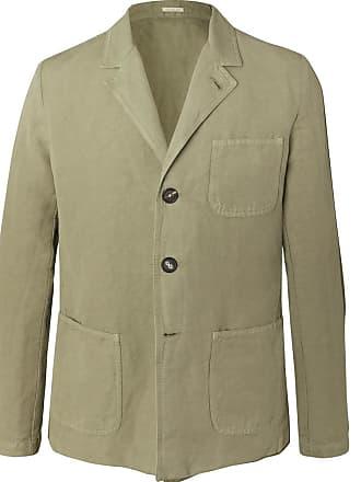 blend Cotton Alba Massimo Green Unstructured Linen Blazer And wxvYaxO6