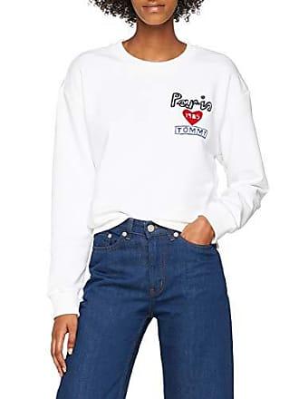 Sweatshirt X Hilfiger nk Femme C Blanc large White Sweat Lane Ls Tommy classic shirt 100 1IUwq
