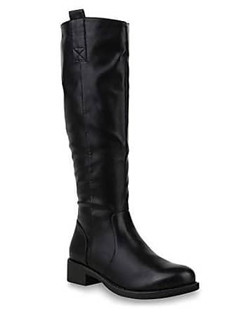 Boots Langschaft 37 Schwarz Reiterstiefel Stiefelparadies Gefütterte Damen 172606 Flandell Stiefel qXnfwf7Ix4