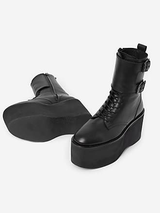 Boots The Plateforme Noir Cuir Kooples gqwRw5nxHp