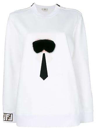 Blanc Fendi Appliqué Sweatshirt Karlito Appliqué Fendi Karlito Sweatshirt Fendi Blanc fwWx7Aqn6P